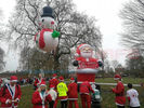 8 M Snow Man Helium Balloon Lights With Full Printing For Events Or Christmas