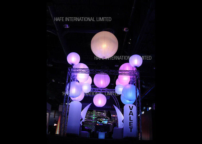 2m Vivid Hanging Inflatable 480W LED Balloon Lamp Full Printing For Party / Wedding