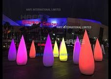 Aero Cone Inflatable Lighting Decoration , LED 100W Social Corporate Event Light Tower